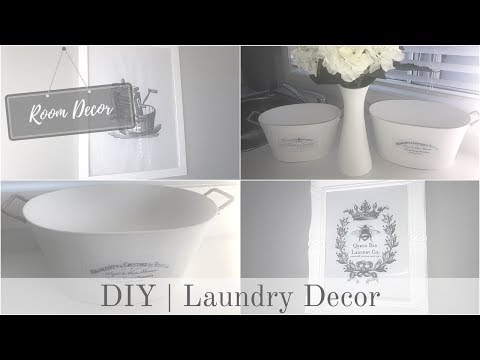 ROOM DECOR | Laundry Prints and Containers (видео)