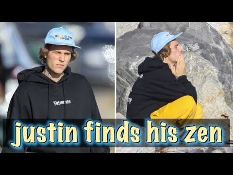 Justin Bieber Hits The Beach For A Meditation Session