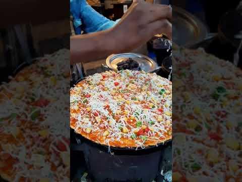 CHEESE PIZZA DOSA   Fusion Dish   Raipur Food   TASTE with Saurabh