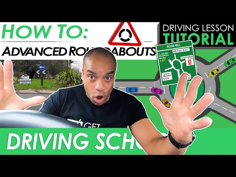 Large Roundabouts - Busy Multi-Lane Roundabout Tips   Driving Tutorial