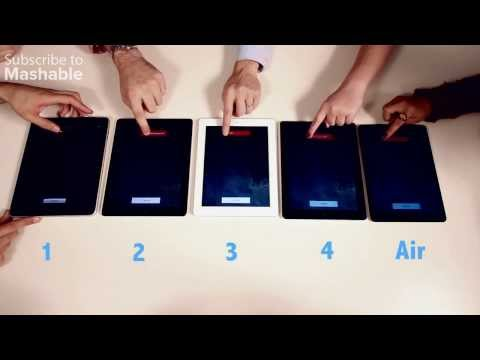 蘋果iPad Air VS 歷代iPad大PK!究竟勝負結果是…
