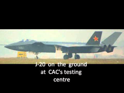 中国のステルス戦闘機らしい殲(せん)20の試作型