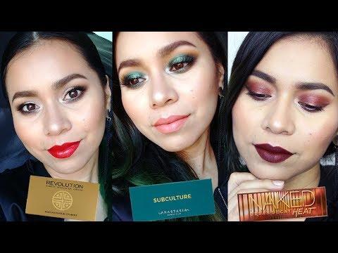 Videos de uñas - 3 Maquillajes con mis 3 Paletas FAVORITAS DEL AÑO!! ft. Steph Ramírez  Karla Burelo :)