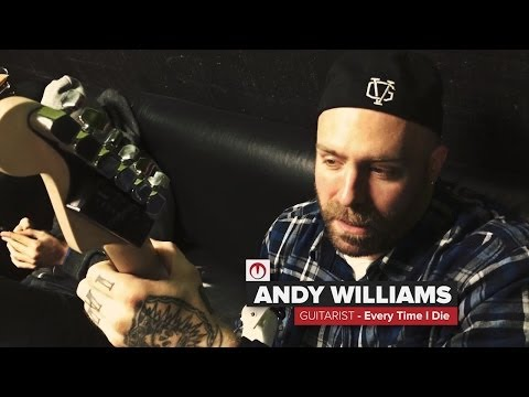 Every time I Die - Andy Williams of Every Time I Die back stage showing off his new TronicalTune system. Available for purchase: http://store.tronical-components.com/ For more ...