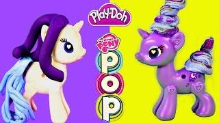 Play Doh My Little Pony POP Rarity & Princess Luna Toys Style Design Build MLP Bracelet