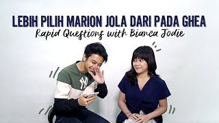 Download Video Bianca Jodie Lebih Pilih Marion Jola Dari Pada Ghea | Rapid Questions with Bianca Jodie MP3 3GP MP4
