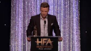 Anna Kendrick Presents the Song Award to Justin Timberlake - Hollywood Film Awards 2016 Video