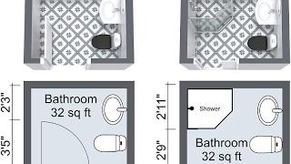 Small Bathroom Layout Shower and Bath Design Ideas