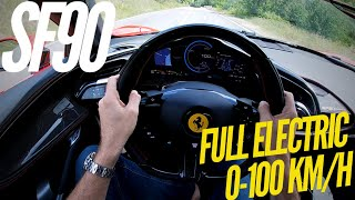 Ferrari SF90 Stradale : how fast is eDrive mode ? by Motorsport Magazine
