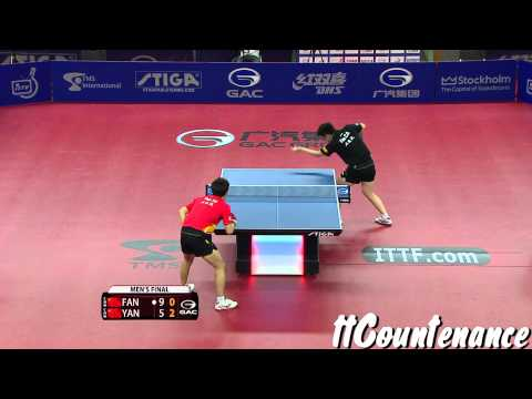 Yan - ITTF World Tour, Swedish Open, Major Series,27 Nov 2013 - 01 Dec 2013, Stockholm, SWE. Men's Singles Final. ttCountenance and GecaPhoenix facebook page: http...