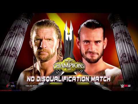 Triple H vs CM PUNK No Disqualifications | Night Of Champions | WWE 2K 15 | PS4 1080P 60FPS