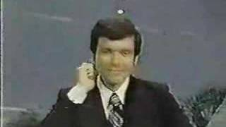 "From ""The Big Showdown"" circa 1976, host Jim Peck forgets how to walk down stairs."
