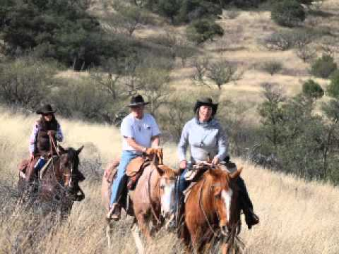 Horseback riding, guests, and vistas in December in Southern Arizona