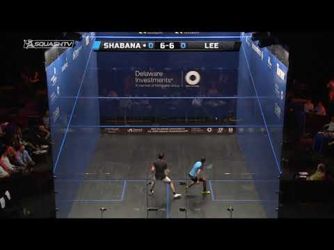 Squash tips: Max Lee's drop shot