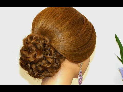 Prom wedding updo. Hairstyles for long hair. Updo hairstyles