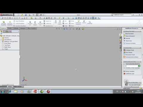 5210061015 วิธีการใช้งานโปรแกรม Solid work เบื้องต้น