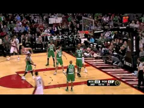 Andre Miller to Aldridge against the Celtics