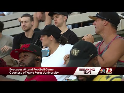 Hurricane Florence evacuees treated to Wake Forest, Boston College football game