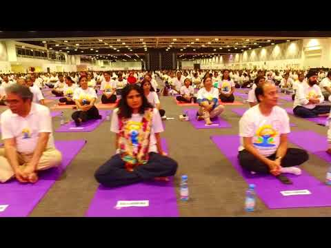 Video: 5,000 people take part in Indian Embassy Yoga Day celebrations