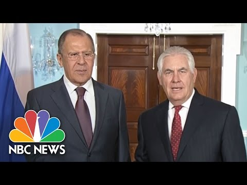 Russian FM Lavrov Comments Sarcastically On James Comey Firing At Rex Tillerson Photo Op | NBC News