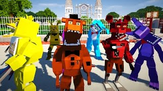 Minecraft FIVE NIGHTS AT FREDDY'S MOD!   GOLDEN FREDDY, CHICA, BABY, FOXY, & MORE   Modded Mini-Game