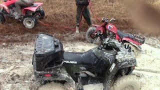 4. Crazy Fun Rainy Quad Ride Honda 400Ex & Sportsman 500