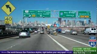 San Mateo (CA) United States  City new picture : US 101 North (CA), Driving Road Trip into San Francisco, San Mateo to SF