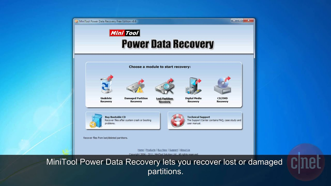 MiniTool Power Data Recovery Free - Use To Recover lost or deleted data