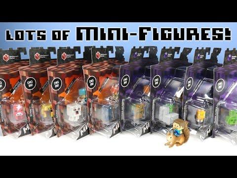 Minecraft Mini-Figures Netherrack Series 3 & Obsidian Series 4 Dig In Packs