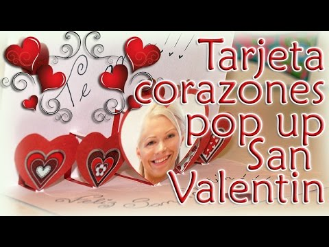 COMO HACER TARJETA DE CORAZONES POP UP SAN VALENTIN -DIY