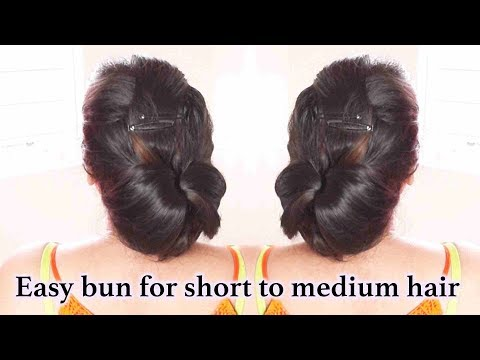 Hairstyles for short hair - Easy bun hairstyle for short to medium hair