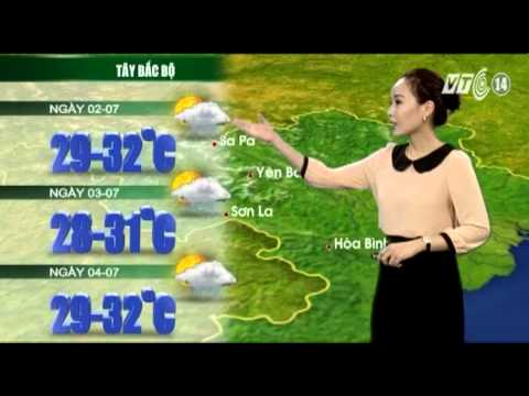 VTC14_Thời tiết 12h_01.07.2013