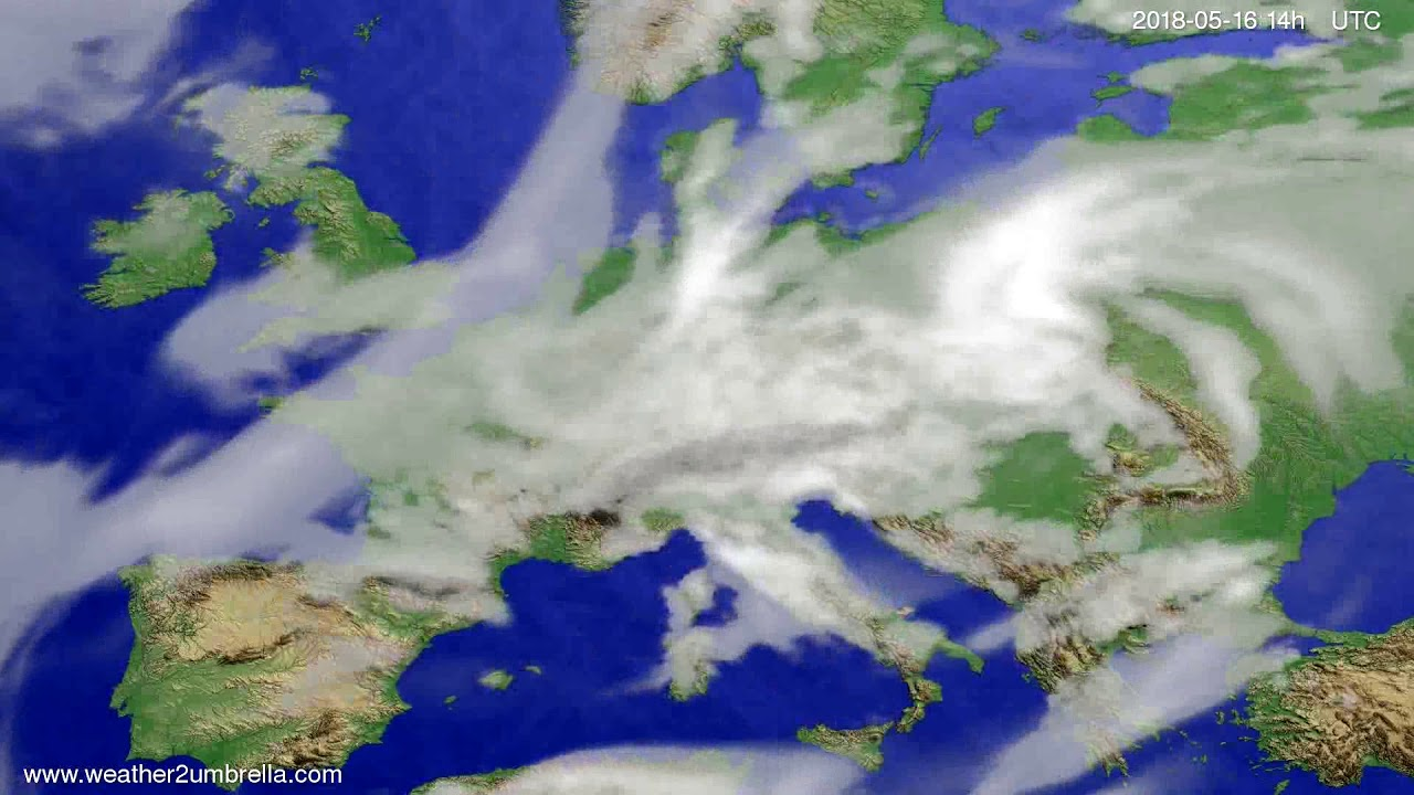 Cloud forecast Europe 2018-05-12