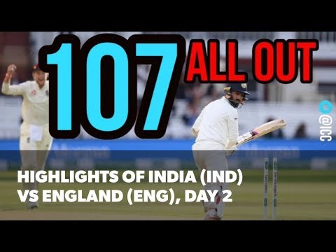 2nd Test (Lord's) Day 2: Highlights from India (IND) vs England (ENG)