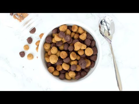 Healthy Reese's Puffs Cereal! How To Make Peanut Butter Cup Cereal!