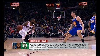 Kyrie Irving traded to the Boston Celtics for Isaiah Thomas, Jae Crowder and the Brooklyn Nets 2018 unprotected 1st Round Draft pick as the Cleveland ...