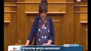 Ομιλία στη Βουλή σχετικά με το Αγροτικό.