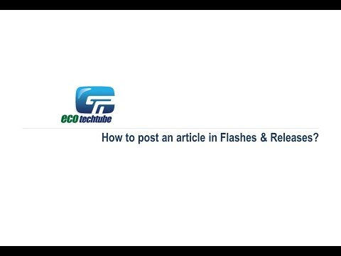 How to post an article in Flashes & Releases?
