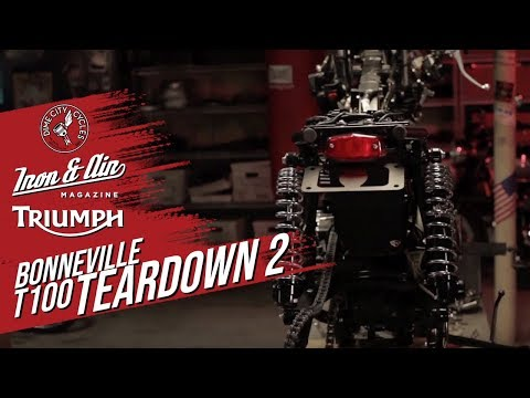 The Dime City, Iron & Air & Triumph Motorcycles Bonneville T100 Giveaway! - Teardown Video 2