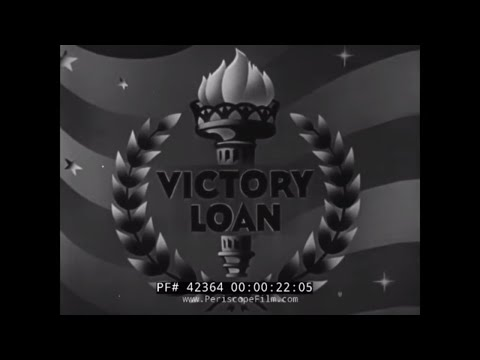 U.S. DEPT. OF TREASURY PROMO FILM FOR WWII VICTORY LOAN MOTION PICTURES  WAR BOND SALES 42364
