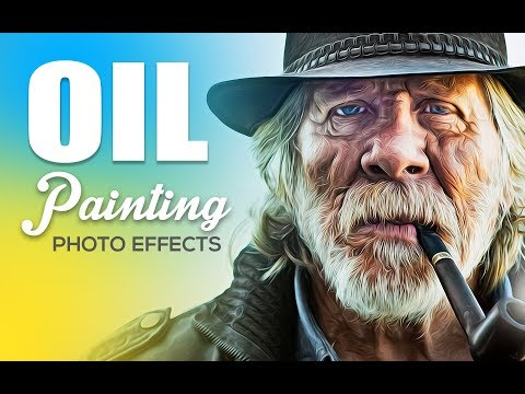 New Oil Paint Action For Adobe Photoshop 2018 I 100% Working Zip File