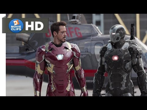 Captain America: Civil War Hindi (08/14) Airport Action Scene Part-1 MovieClips