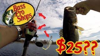 Video $25 Bass Pro Shops Fishing Challenge!! Big Bass on a WALMART BUDGET!! (SHOCKING!) MP3, 3GP, MP4, WEBM, AVI, FLV Oktober 2018