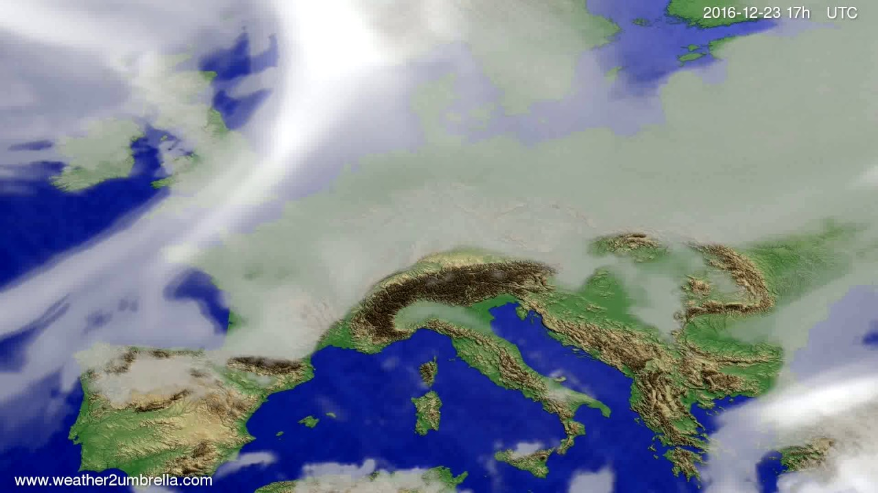 Cloud forecast Europe 2016-12-21