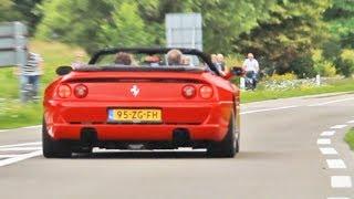Still one of the best sounding Ferraris out there!1994-1999Ferrari F355 Berlinetta (coupe)Ferrari F355 SpiderFerrari F355 GTS (Targa)Engine: 3.5 L naturally aspirated V8Power output: 380 hpTorque: 363 nmTransmission: 6 speed manualWeight: 1482 kg (3268 lbs)Top speed: 295 kmh (183 mph)0-100kmh: 4.7 sec (Berlinetta)