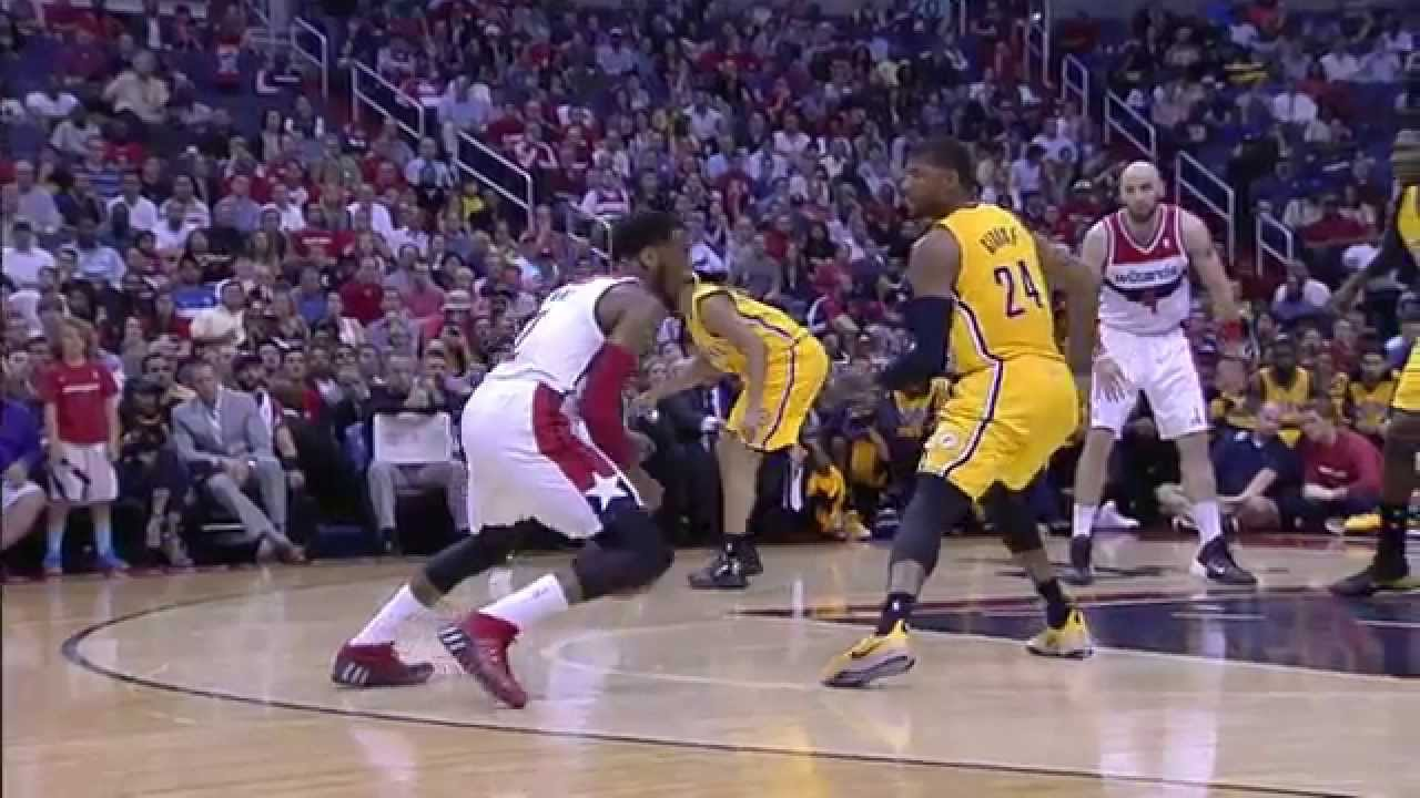 John Wall Crosses and Steps Back on Paul George to Beat the Buzzer!