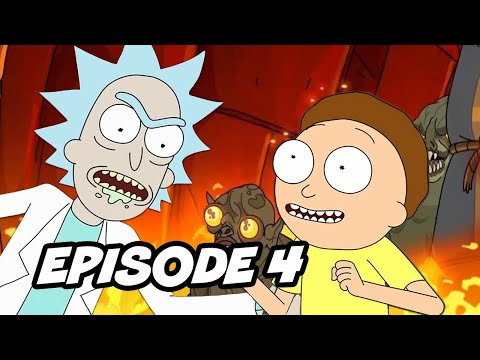 Rick and Morty Season 4 Episode 4 - TOP 10 WTF and Easter Eggs