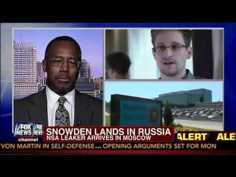 Dr. Benjamin Carson on Edward Snowden - Hero or Traitor? - 6/23/13