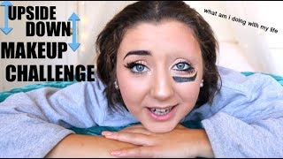 Upside Down Eye Makeup Challenge