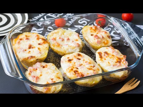 Patate Ripiene al Forno con Prosciutto e Formaggio - Ricetta Facile e Veloce  - 55Winston55